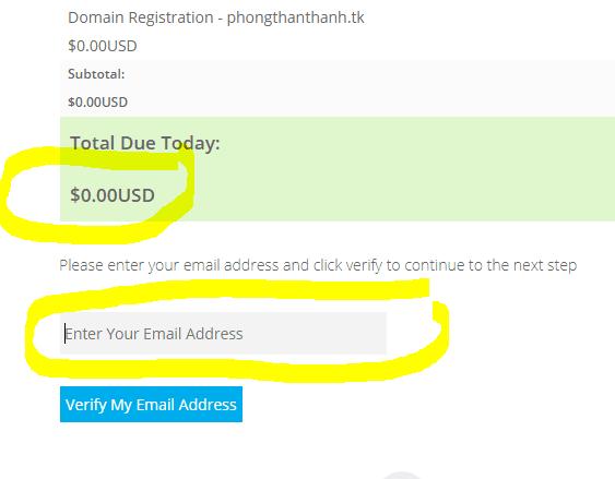 cách mua domain miễn phí