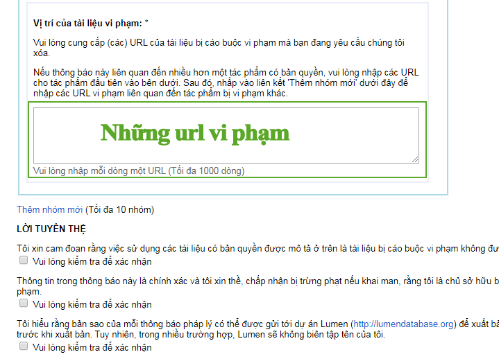 hướng dẫn report dmca google search console.